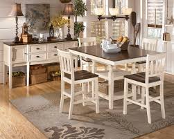 square pub table with storage sku d583 32 224 4 60 t casual pub table set cottage white brown