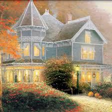 amazon com wall decor thomas kinkade autumn blessings wall decor