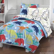 Monster Truck Bed Set Dinosaur Bedding Twin Universal Studios Jurassic World Dinosaur