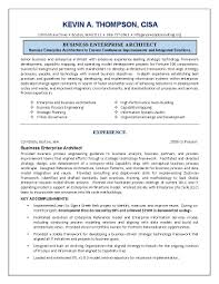 Strategic Planning Resume It Resume Engineering Sample Resume Business Architect Sample Resume