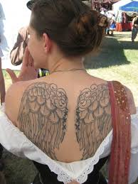 shoulder meaning wings cross design idea for