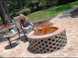 Brick Firepit Brick Pit