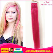 hot hair extensions new fashion hot pink hair extensions strong blue