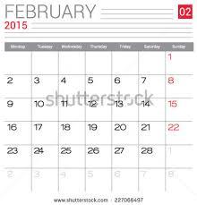 calendar 2015 vector design collection calendar stock vector