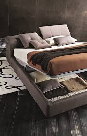 Storage Bed Tower Storage Bed King Size Taupe Grey Buy Online At Best Price
