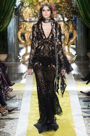 dress gown prom dress lace dress black dress roberto cavalli