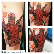 24 deadpool tattoos on sleeve