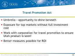Travel trends for usa and utah an international perspective ppt