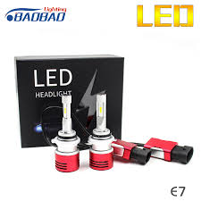 le h7 led baobao dongfeng e7 universal csp led car headlight 12v 50w 6000k