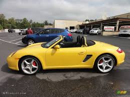 yellow porsche boxster speed yellow 2006 porsche boxster s exterior photo 54606015