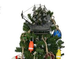 wooden flying dutchman model pirate ship tree topper