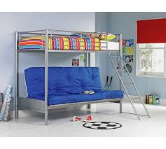Buy HOME Metal Bunk Bed Frame With Futon Blue At Argoscouk - Metal bunk beds with futon