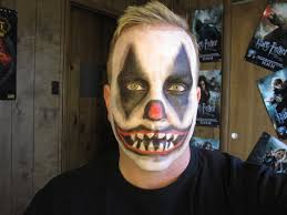 evil clown makeup tutorial halloween 2012 youtube