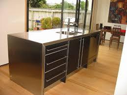 custom made kitchen of black meltica living timber custom made kitchen black meltica and aluminium edging