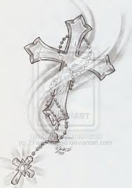 rosary cross shine by 2face deviantart com