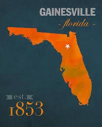 gainesville map of florida gators gainesville town florida