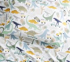Dinosaur Bedding For Girls by Organic Mason Dino Friends Sheet Set Pottery Barn Kids
