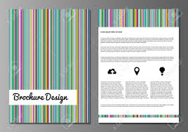Free Cover Page Templates by Vector Illustration Of Brochure Booklet Annual Report Or Flyer