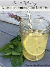 lavender tea relieving lavender lemon balm iced tea