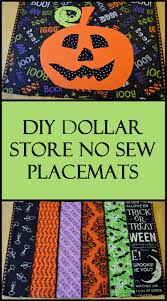 diy dollar store no sew halloween placemats dollar stores store