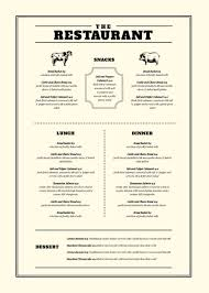 dining menu template dining menu template with feature line elements