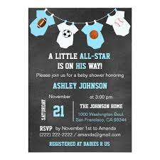 all baby shower chalkboard sports all baby shower card zazzle