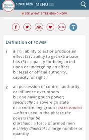 controlling definition power definition of power by merriam webster https www merriam