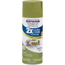 rust oleum american accents ultra cover 2x satin eden spray paint