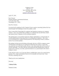 sample computer science cover letter cover letter examples for