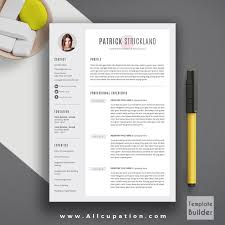 Resume Template Word Mac Creative Resume Template Modern Cv Word Cover Lette Saneme