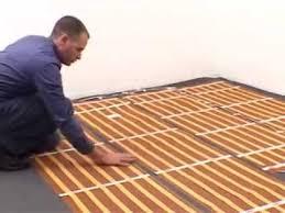 floor heating installation for wood floors