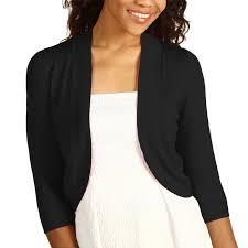 black shrug sweater 34 sleeve bolero sweater jacket womens shrug cardigan s