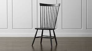 Crate And Barrel Desk Chair Marlow Ii Black Maple Dining Chair Crate And Barrel