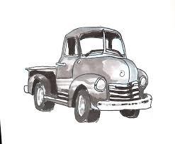 june 15th car week day 2 1950s pickup trucks sketchdaily