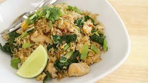 thai chicken fried rice recipe ข าวผ ดไก thai kitchen youtube