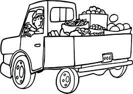 fruit truck free coloring page wecoloringpage