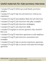 Resume Samples For Secretary by Top 8 Club Secretary Resume Samples