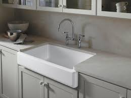 Kitchen Sinks With Backsplash 18 Farmhouse Sinks Apron Front Sink Neutral Tones And Granite