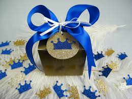 royal prince baby shower favors royal prince baby shower gift box kit royal blue gold