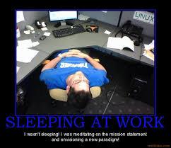 Desk Meme - if you get caught sleeping at your desk missbegotten