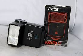 used vivitar 550fd auto thyristor nikon dedicated with instruction