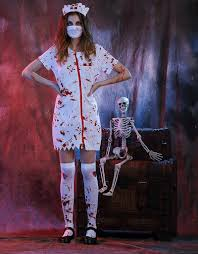 halloween scary zombie nurse costume women men scary nurse