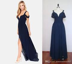 navy blue long bridesmaid dresses for weddings long prom dress v