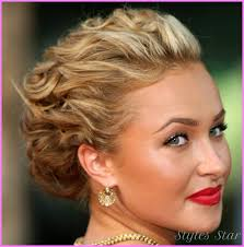awesome dressy hairstyles for short hair stars style pinterest