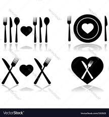dinner silhouette dinner date royalty free vector image vectorstock