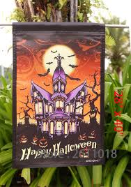 halloween yard flags halloween garden flags