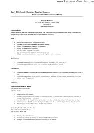 Educational Resume Example by Early Childhood Educator Resume Best Resume Collection