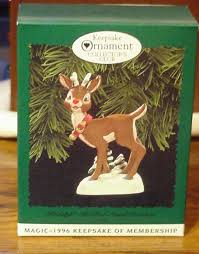 1996 hallmark ornament collectors club rudolph the nosed