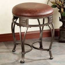 bathroom alluring vintage vanity chair in gold iron stained and