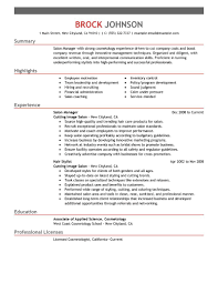 Sample Esthetician Resume New Graduate Salon Manager Resume Berathen Com
